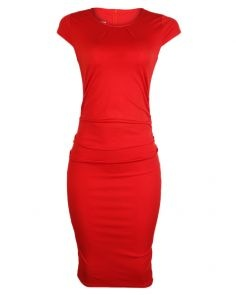 Bodicon red dress